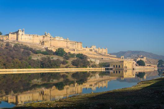Amber fort over the lake, Jaipur