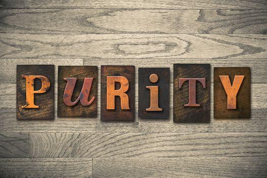 Purity Concept Wooden Letterpress Type