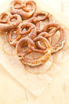Salty bavarian pretzels