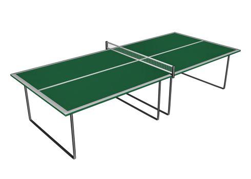 Tennis table - 3D render