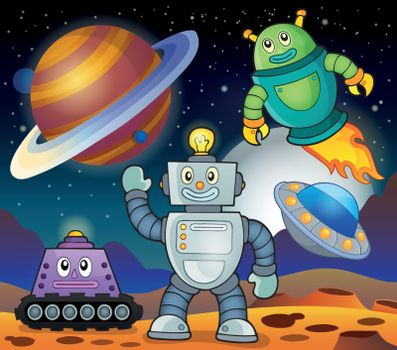Space theme with robots 1