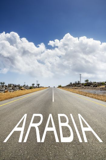 road with text ARABIA