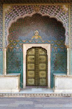 Rose Gate at the Chandra Mahal, Jaipur City Palace