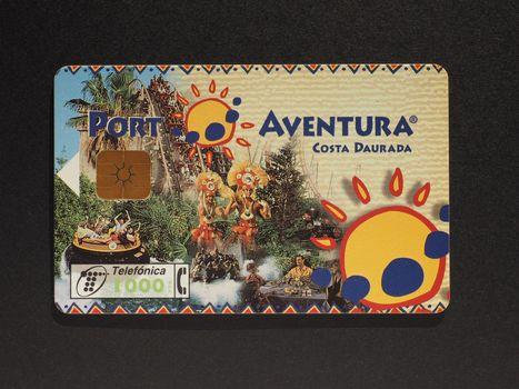 Spanish phone card