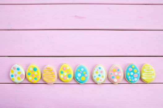 Colorful cookies with polka dots