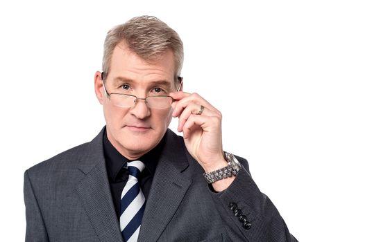 Mature businessman wearing eyeglasses