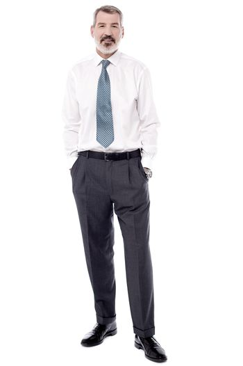 Confident businessman posing relaxed