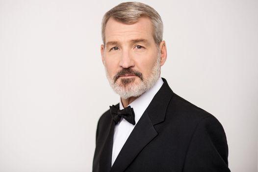 Handsome aged businessman
