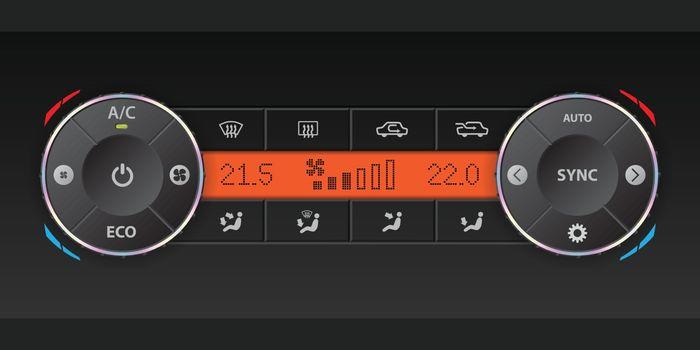 Dual air condition dashboard design