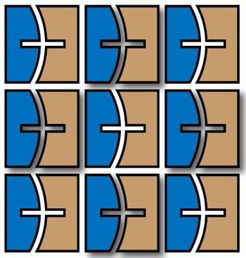 illustrated squared board pattern