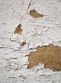 cracks in white plaster