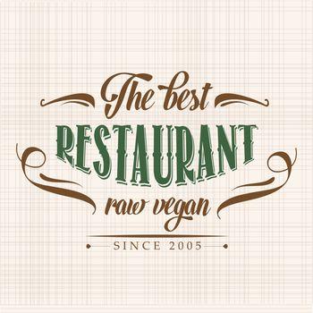 retro raw vegan restaurant poster