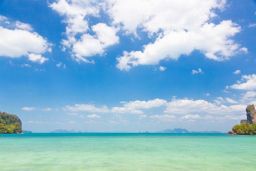 Crystal clean sea.