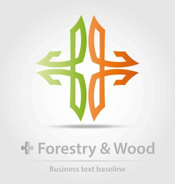 Forestry and wood business icon