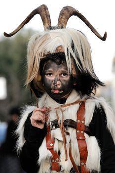 Orani, Sardinia - March 6, 2011: Parade of traditional masks of Sardinia at the Carnival of 6 March 2011 in Orani, Sardinia.