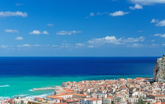 View on Cefalu city Sicily