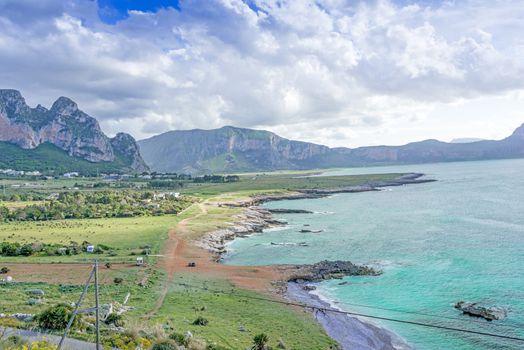 A seascape on the coast of Sicily