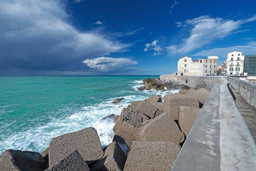 Thunder clouds near Cefalu Sicily