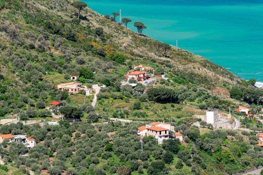 Modern houses at Sicily