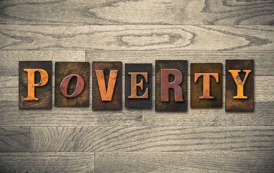 Poverty Wooden Letterpress Concept