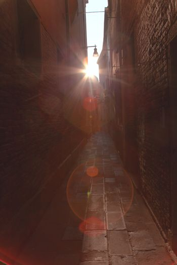 alley in the darkness