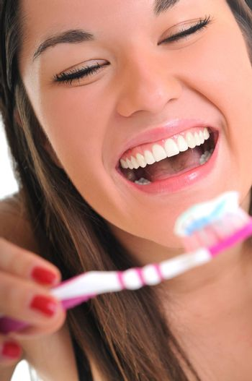 woman tooth brush teeth white smile
