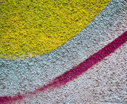 abstract sprayed plaster