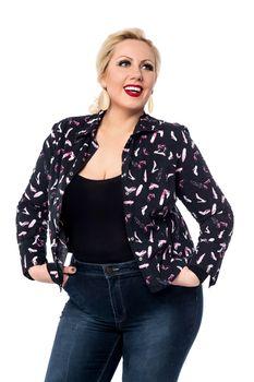 Trendy stylish woman