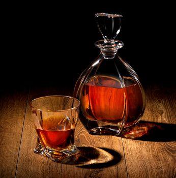 Whiskey on black
