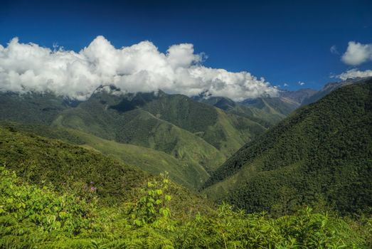 Valley in Andes