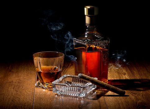 Brandy on table
