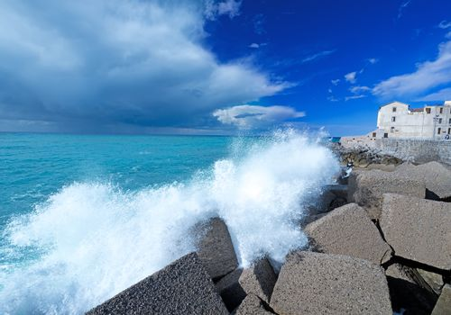 Thunder clouds near Cefalu Italy