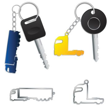 Semi truck key holders