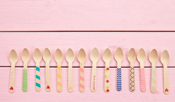 Multicolored tea spoons