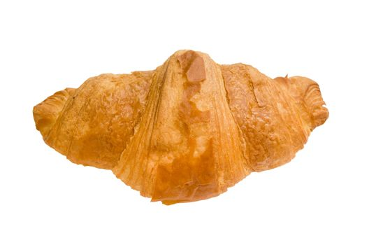 isolated croissant with clipping path in jpg.
