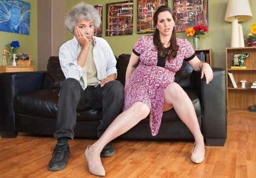 Impatient Pregnant Couple