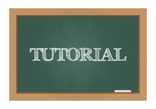 Tutorial text on chalkboard