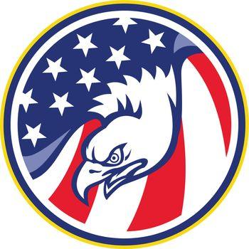 eagle flying american stars stripes flag