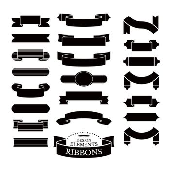 Collection of different ribbons