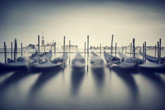 Vintage Venice cityscape