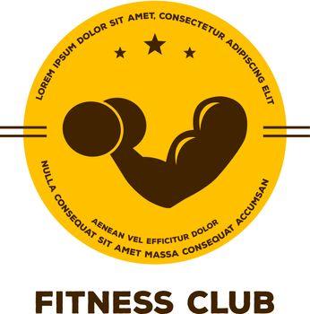 Vector illustration of Logo for fitness club