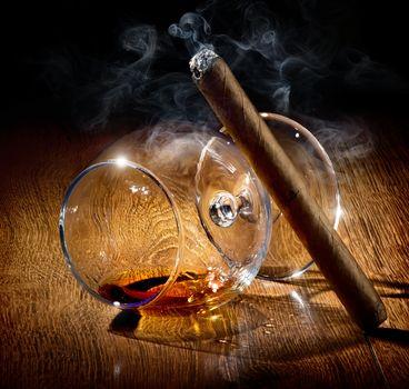 Glass in smoke