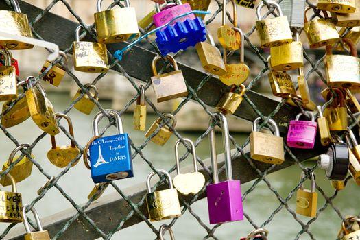 Parisian love locks