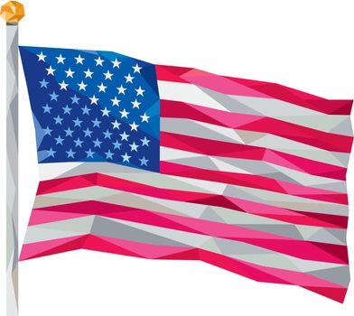 USA Flag Stars and Stripes Low Polygon