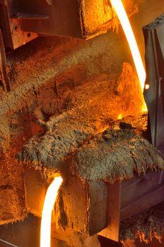Liquid metal from blast furnace