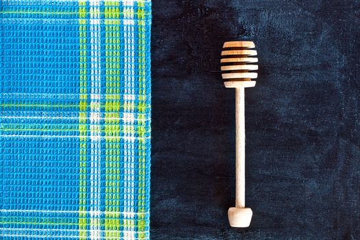honey stick and tablecloth