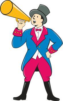 Circus Ringmaster Bullhorn Standing Cartoon