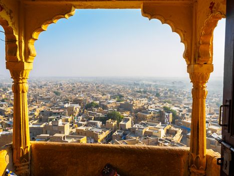 Townscape view from Jaisalmer Fort