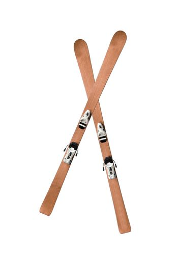 pair of skis isolated