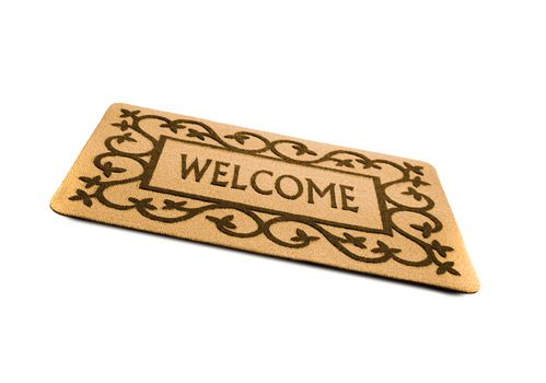 welcome door mat isolated